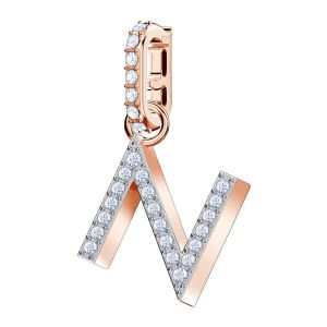 Swarovski Remix Collection Charm N, White, Rose Gold Plating