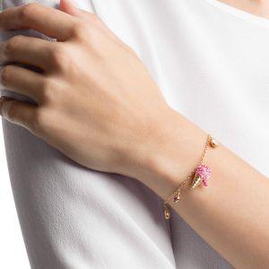 Swarovski No Regrets Ice Cream Bracelet, Multi-colored, Gold plating