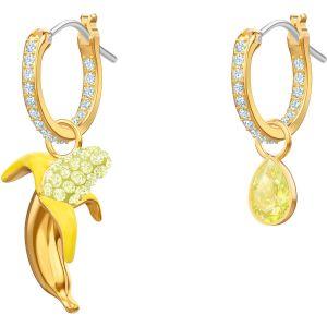 Swarovski No Regrets Banana Pierced Earrings, Multi-Coloured, Gold Plating