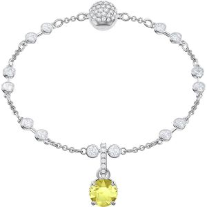 Swarovski Remix Collection Charm, November, Yellow, Rhodium Plating