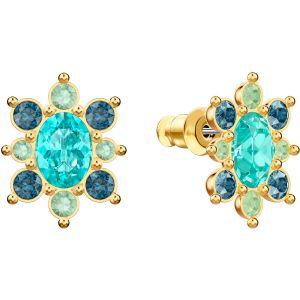 Swarovski Lucky Goddess Pierced Earrings, Multi-colored, Gold Plating