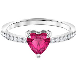 Swarovski  One Ring, Small, Red, Rhodium Plating