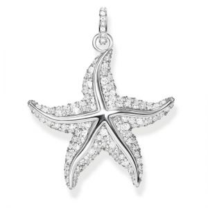 Thomas Sabo Silver and Zirconia Starfish Pendant PE808-051-14