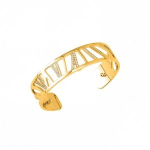 Les Georgettes Perroquet 14mm Gold and Zirconia Bangle