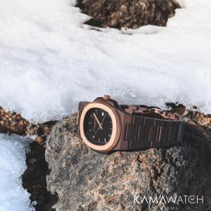 Kamawatch Vintage Bolero Watch - Dark Brown / Bronze