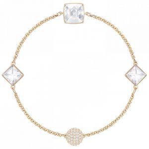 Swarovski Remix Collection Crystal Spike Strand, White, Rose Gold Plating