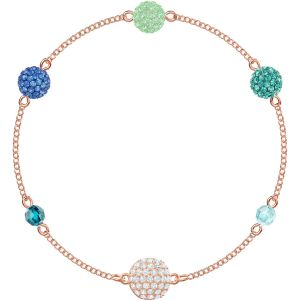 Swarovski Remix Collection Pop Strand, Green, Rose Gold Plating
