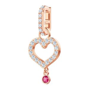 Swarovski Remix Collection Charm Heart, White, Rose Gold Plating