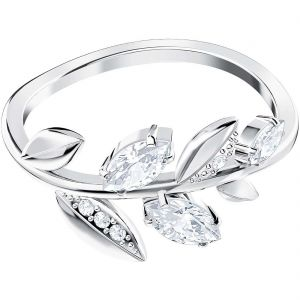 Swarovski Mayfly Ring, White, Rhodium plating