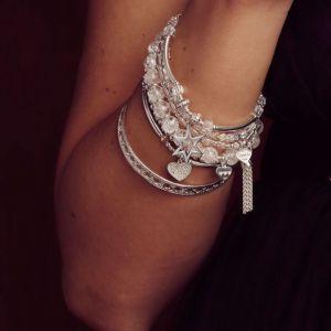 Annie Haak Rock Crystal Star Silver Charm Bracelet