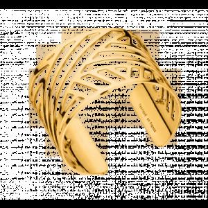 Les Georgettes Ruban 40mm  Gold Finish Bangle