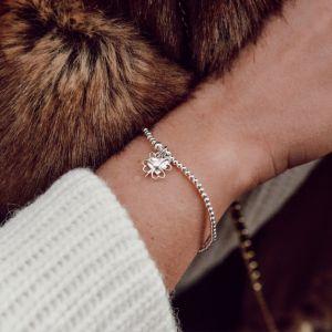 Annie Haak Santeenie Silver Charm Bracelet - Four Heart Clover