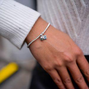 Annie Haak Santeenie Silver Puffed Heart Bracelet