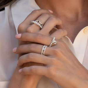 Annie Haak Seri Crystal Silver Ring