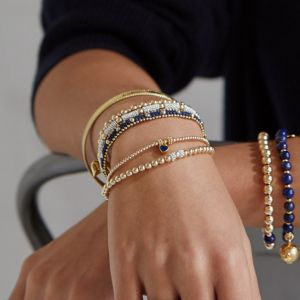 Annie Haak Seri Gold Bracelet with Silver Bead