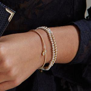 Annie Haak Seri Gold Bracelet with Crystal Bead