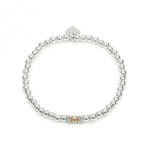Annie Haak Seri Silver Bracelet with Gold Bead