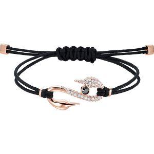 Swarovski Power Collection Bracelet, Black, Rose Gold Plating