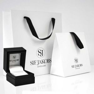 Sif Jakobs Corte Doppio Double Ring - Silver with Black Zirconia