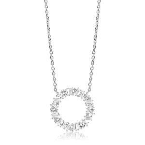 Sif Jakobs Necklace Antella Circolo Grande with white Zirconia