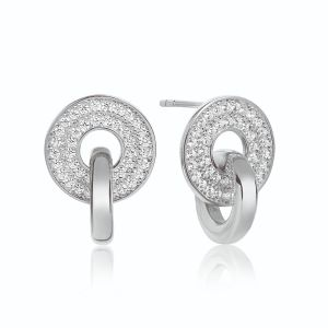 Sif Jakobs Earrings Valiano Due Piccolo with white zirconia
