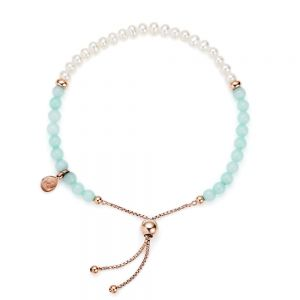 Jersey Pearl Sky Bracelet, Bar Style in Mint Green