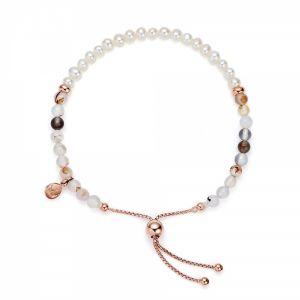 Jersey Pearl Sky Bracelet, Bar Style in Montana Agate