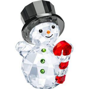 Swarovski Crystal Snowman with Candy Cane
