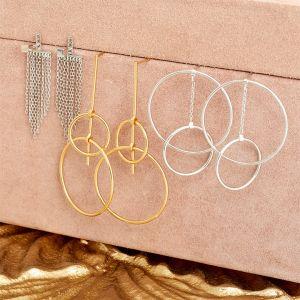 Ania Haie Fringe Full Ear Jackets, Silver