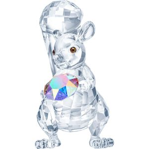 Swarovski Crystal Squirrel Holding a Crystal
