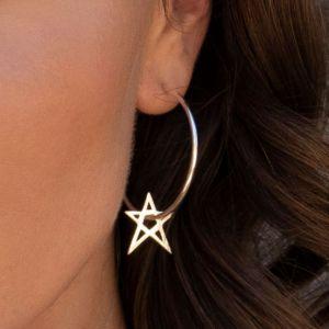 Annie Haak Star Silver Hoop Earrings
