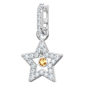 Swarovski Remix Collection Star, White, Rhodium Plating