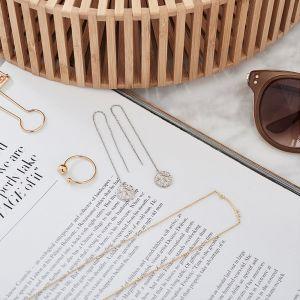 Ania Haie Roman Empress Threader Earrings, Silver