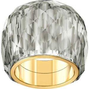 Swarovski Nirvana Ring, Grey, Gold Plating