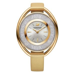 Swarovski_Crystalline_Oval_Gold_Leather_Watch