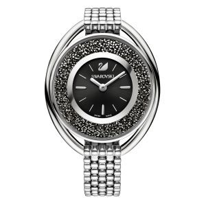 Swarovski_Crystalline_Oval_Silver_&_Black_Metal_Watch