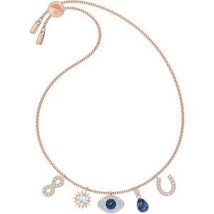 Swarovski Symbolic Bracelet, Multi-Coloured, Rose Gold Plating