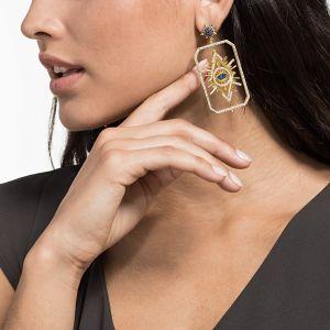 Swarovski Tarot Magic Pierced Earrings, Multi-Coloured, Gold Plating