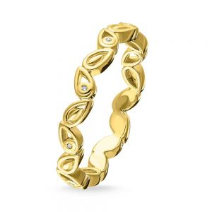 Thomas Sabo Gold Plated and Diamond 'Leaves' Ring