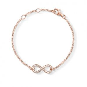 Thomas Sabo Eternity of Love Rose Gold Plated Infinity Bracelet