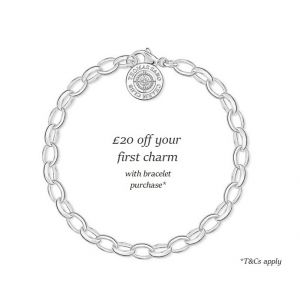 Thomas Sabo Charm Bracelet, Silver and Diamond