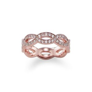 Thomas Sabo Rose Gold Plated Double Wave Ring