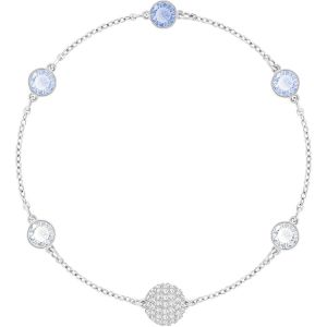 Swarovski Remix Collection, Timeless Blue Crystal, White, Rhodium Plating