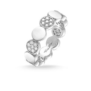 Thomas Sabo 'Sparkling Circles' Disc Ring, Silver