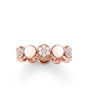 Thomas Sabo 'Sparkling Circles' Disc Ring, Rose
