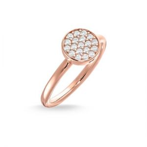 Thomas Sabo Sparkling Circles Solitaire Ring, Rose Gold