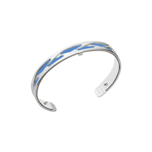 Les Georgettes Tresse 8mm Silver Finish Bangle