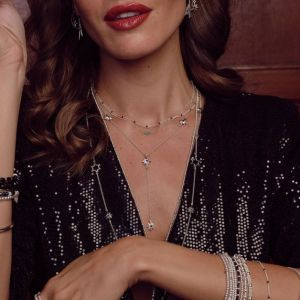 Annie Haak Twilight Black Star Silver Choker Necklace