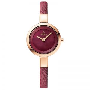 Obaku Ladies 'Siv' Blue Leather Strap Watch V129LXVLRA