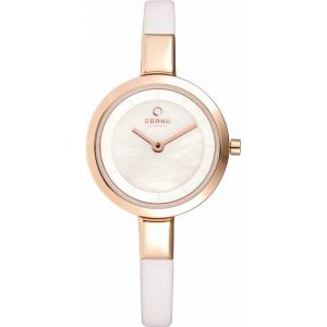 Obaku Ladies Rose Gold Plated Watch V129LXVWRW